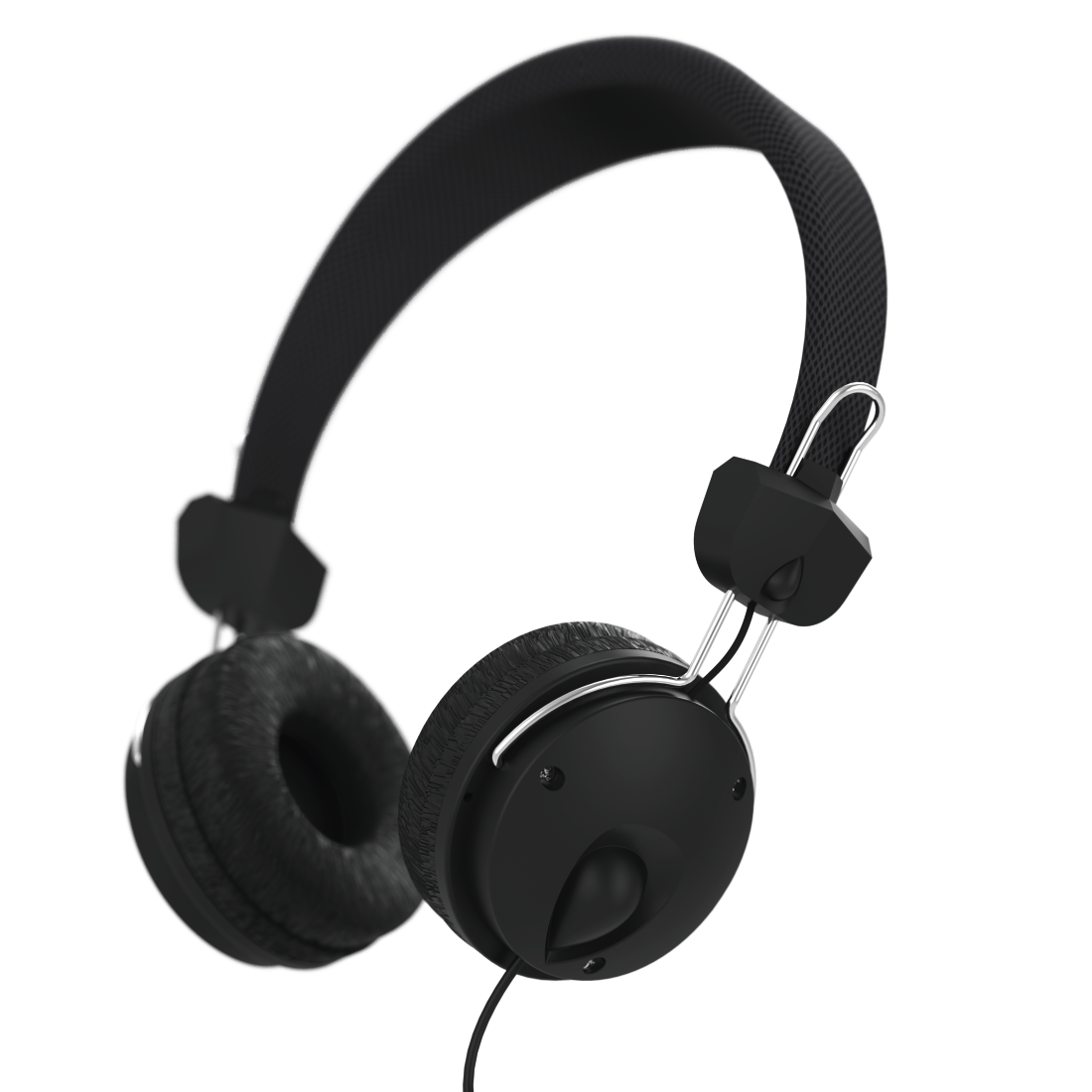 "abx4 High-Res Image4 - Hama, ""Fun4Music"" On-Ear Stereo Headphones, black"