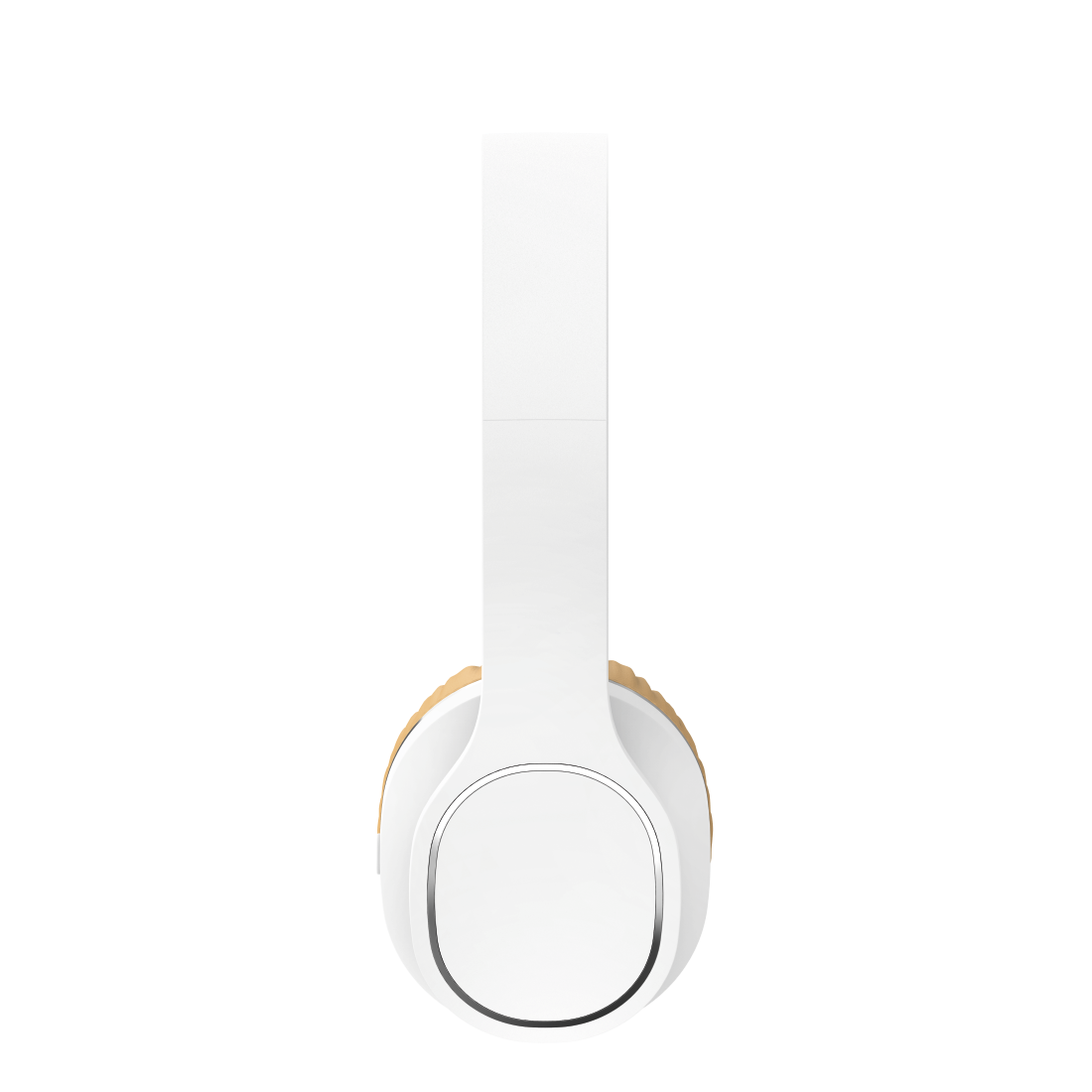"abx3 High-Res Image 3 - Hama, Bluetooth® ""Touch"" headphones, on-ear, microphone, touch control, white/bei"