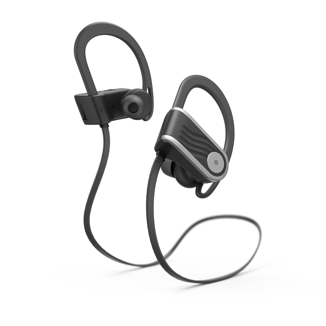 "abx High-Res Image - Hama, ""Voice Sport"" Bluetooth® Headphones, In-Ear, Micro, Ear Hook, black/silver"