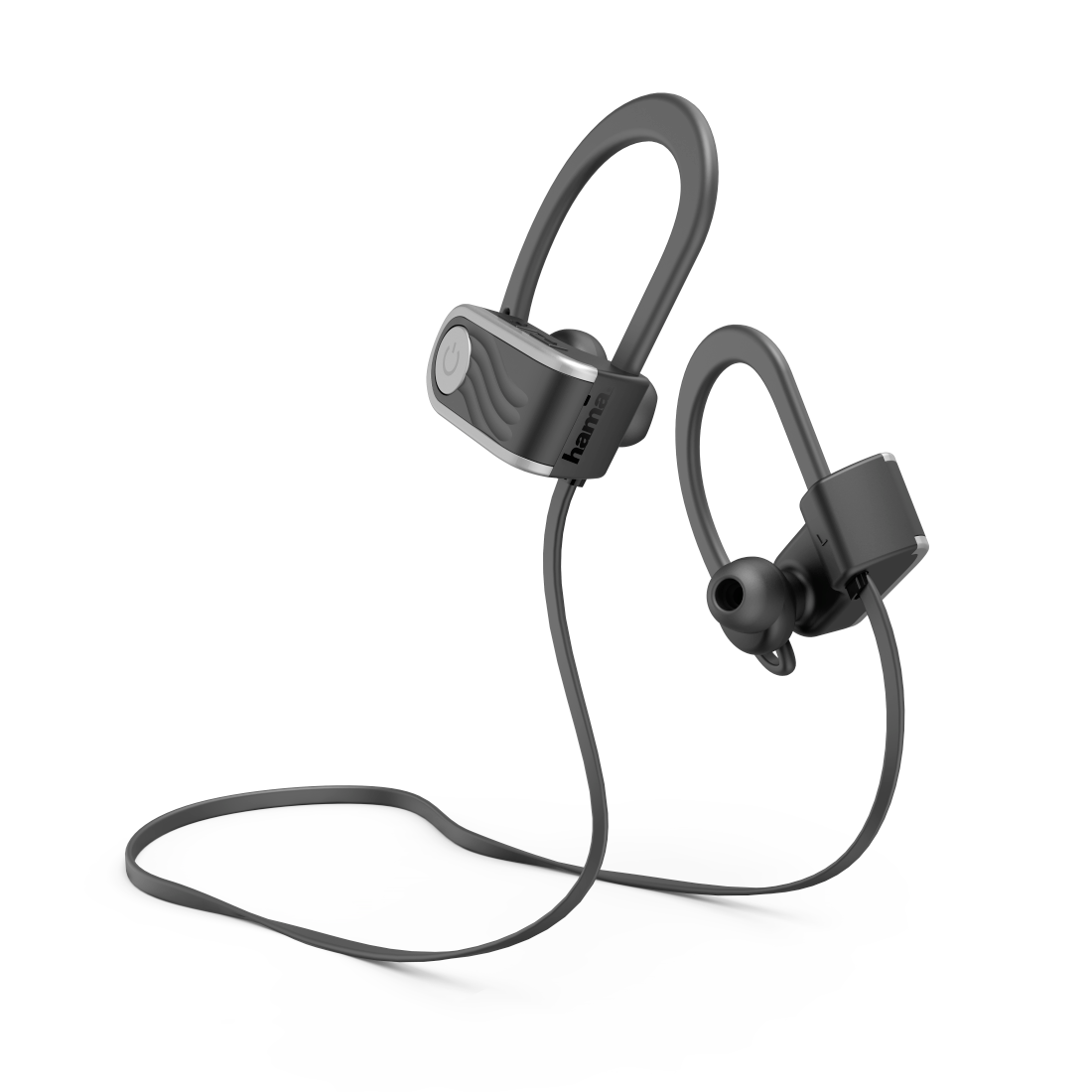 "abx2 High-Res Image 2 - Hama, ""Voice Sport"" Bluetooth® Headphones, In-Ear, Micro, Ear Hook, black/silver"