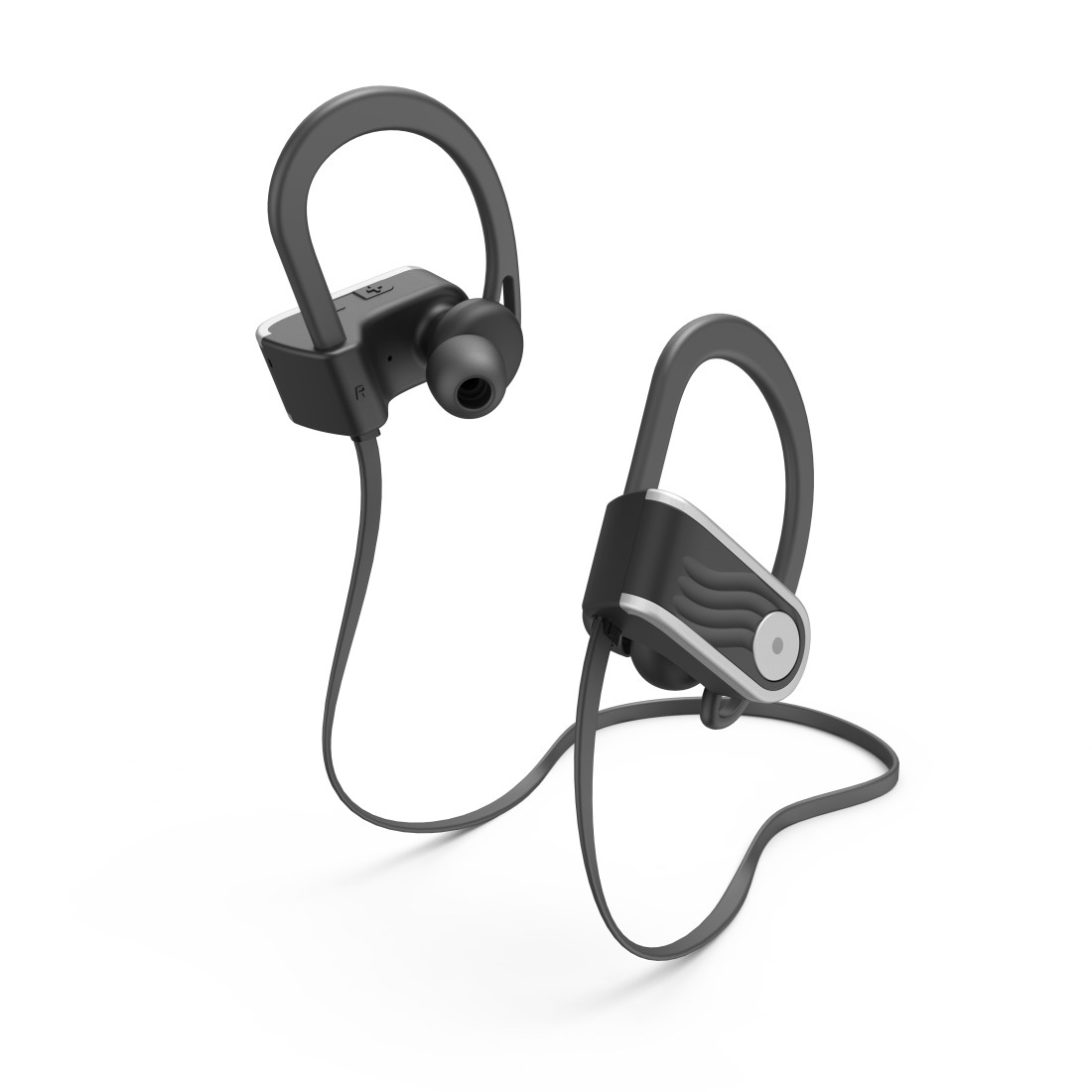 "abx3 High-Res Image 3 - Hama, ""Voice Sport"" Bluetooth® Headphones, In-Ear, Micro, Ear Hook, black/silver"