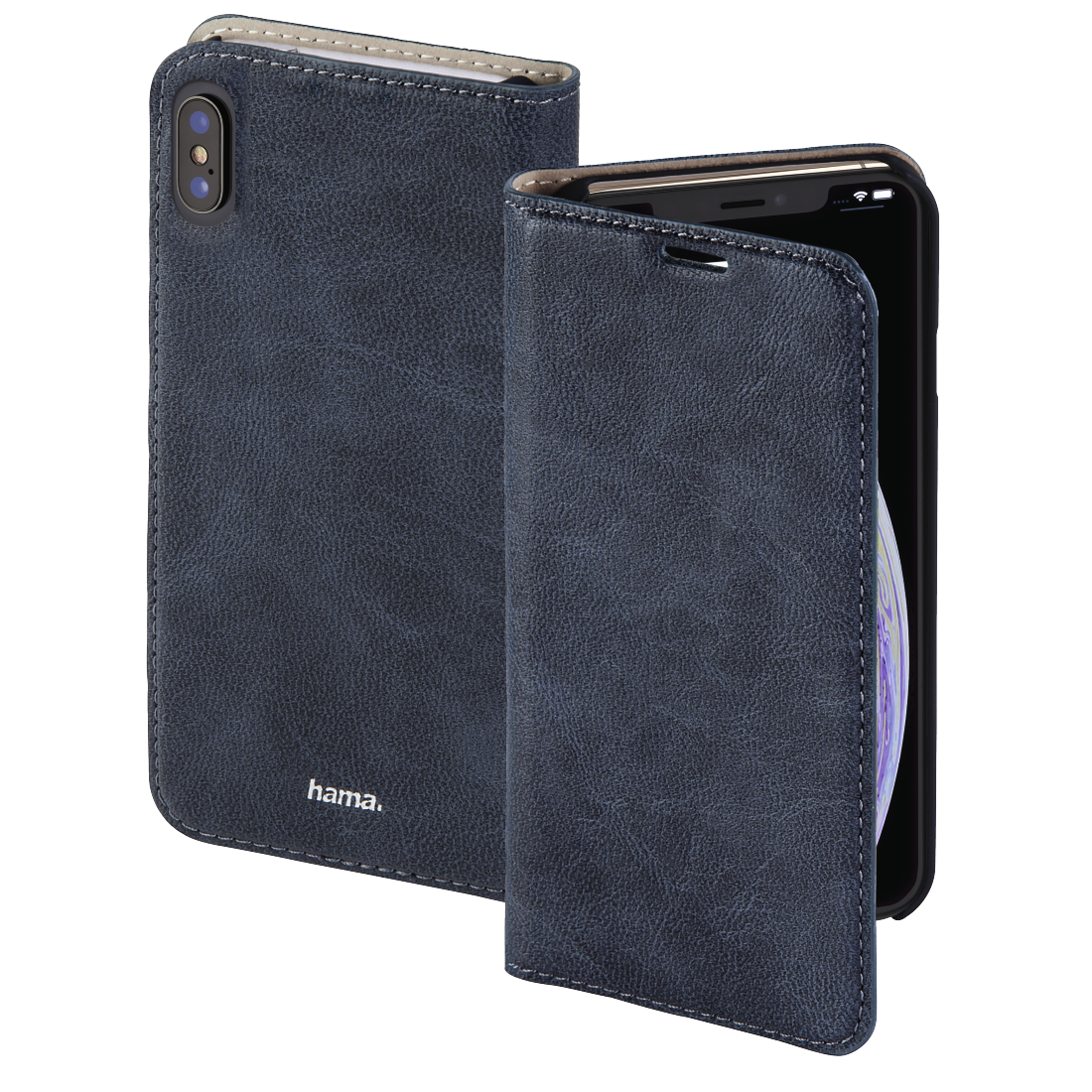 "abx High-Res Image - Hama, ""Guard Case"" booklet for Apple iPhone Xs Max, blue"