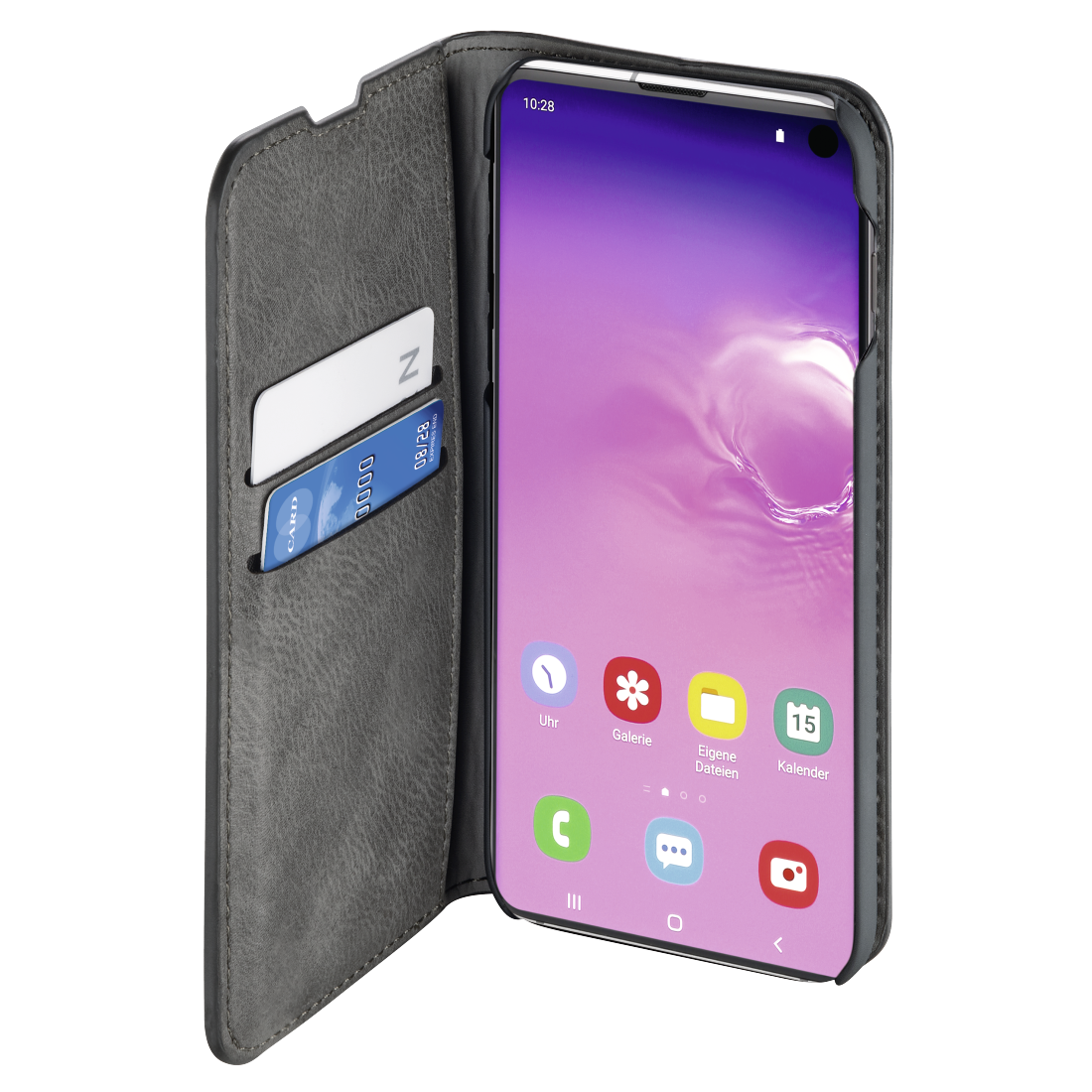 "abx2 High-Res Image 2 - Hama, ""Gentle"" Booklet for Samsung Galaxy S10, light grey"