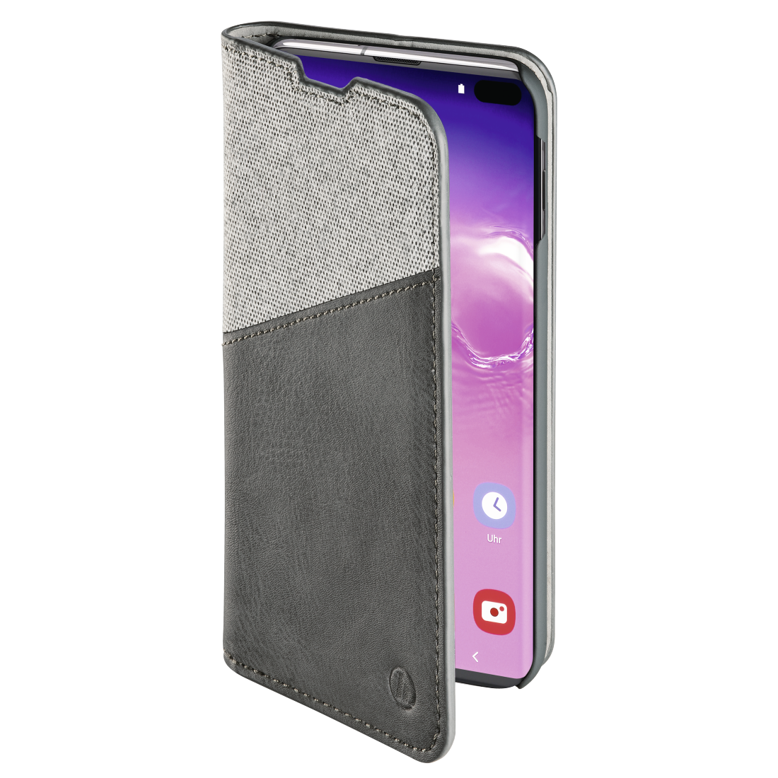 "abx3 High-Res Image 3 - Hama, ""Gentle"" Booklet for Samsung Galaxy S10+, light grey"