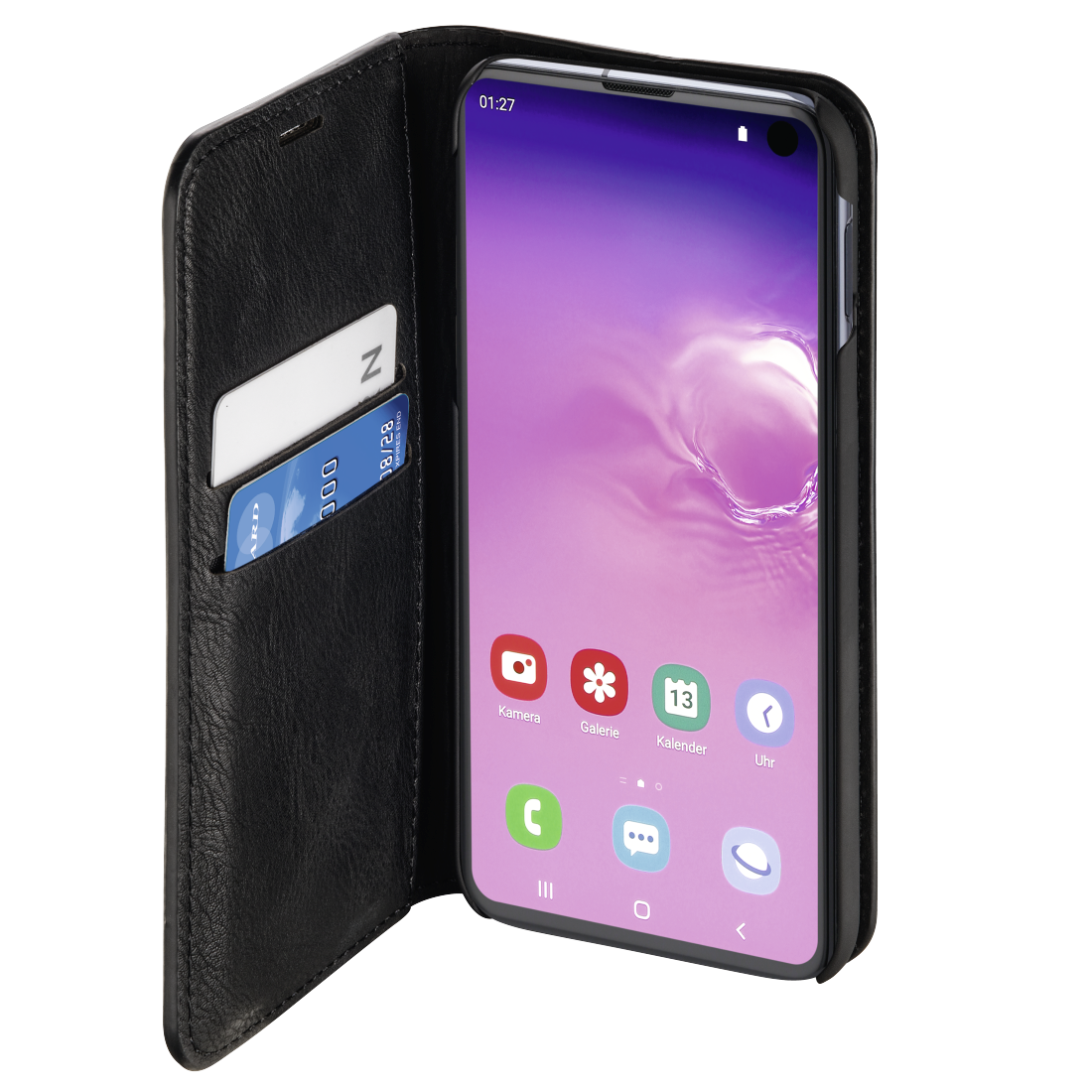 "abx2 High-Res Image 2 - Hama, ""Gentle"" Booklet for Samsung Galaxy S10e, black"