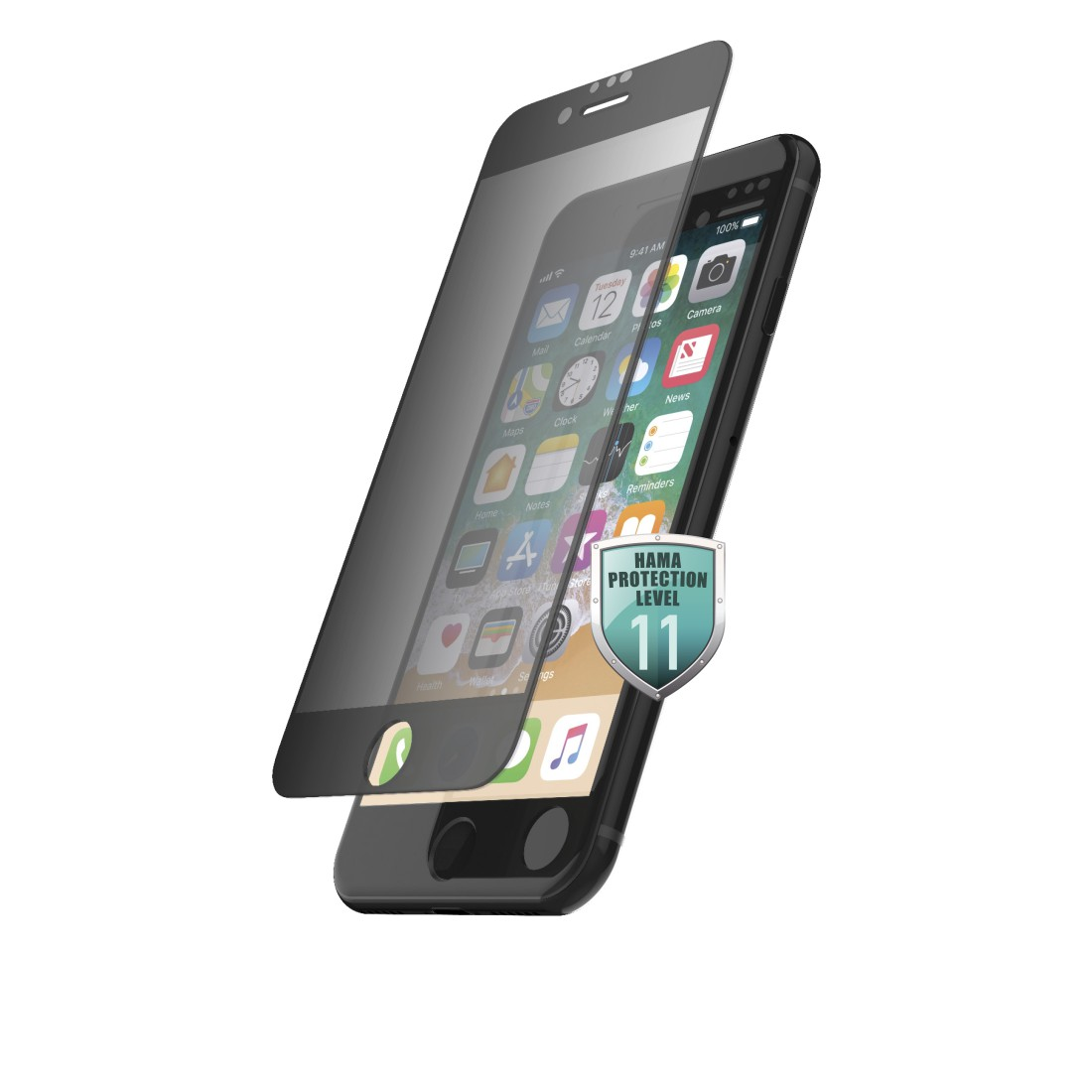 "abx High-Res Image - Hama, ""Privacy"" 3D Full Screen Protective Glass for Apple iPhone 6/6s/7/8/SE 2020"