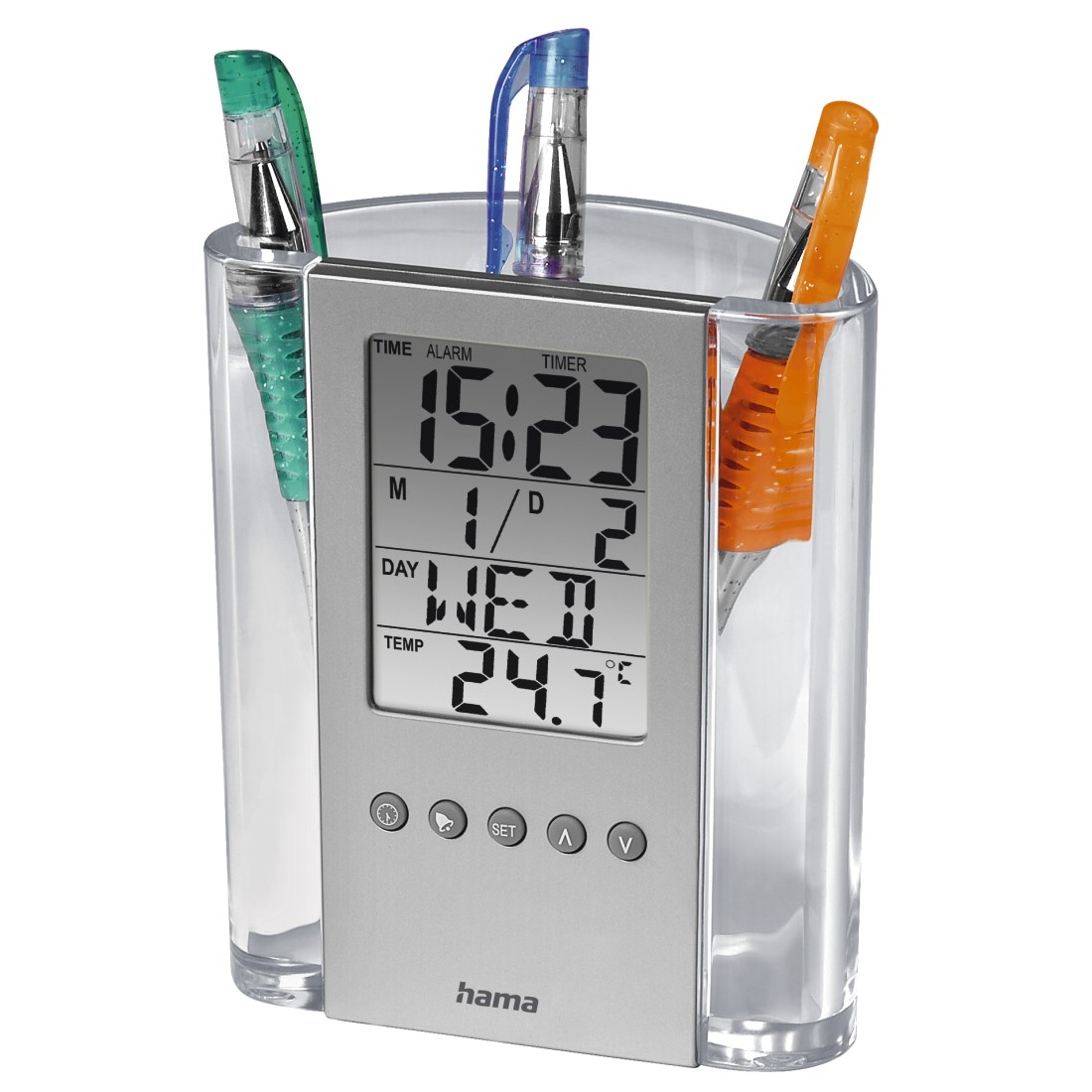 abx High-Res Image - Hama, LCD Thermometer and Pen Holder