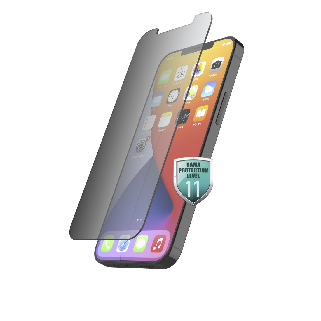 "abx High-Res Image - Hama, ""Privacy"" Real Glass Screen Protector for Apple iPhone 12/12 Pro"