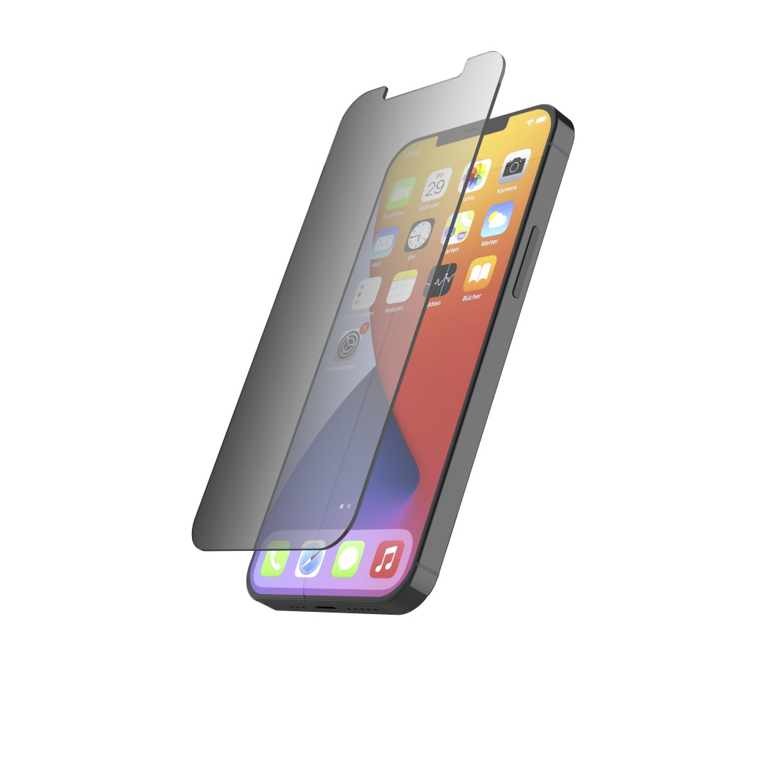 "abx2 High-Res Image 2 - Hama, ""Privacy"" Real Glass Screen Protector for Apple iPhone 12/12 Pro"