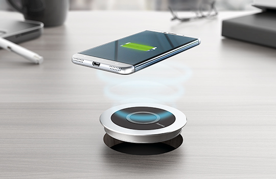 induction chargers put it down to power it up. Black Bedroom Furniture Sets. Home Design Ideas